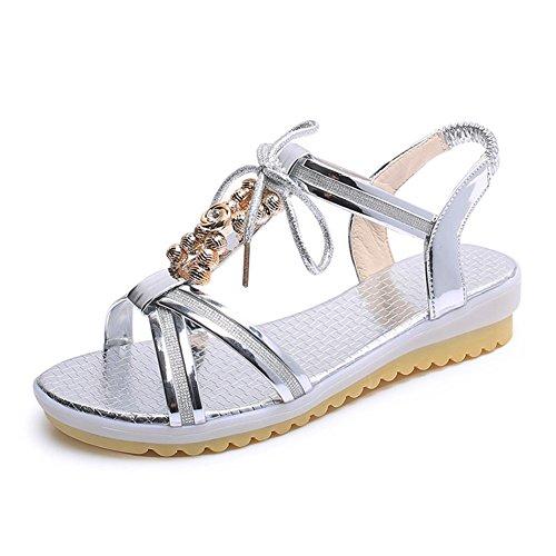 chaussures de plate-forme de style britannique/Étudiant avec le Joker en sandales bout ouvert durant l'été A