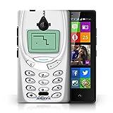 KOBALT® Hülle Case für Nokia X2 Dual Sim | Weißes Nokia 3310 Entwurf | Vintage Handys Kollektion