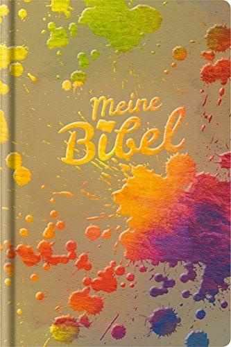 Schlachter 2000: Taschenausgabe mit Parallelstellen, farbiger Einband »Farbkleckse, bunt«