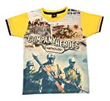 Romano Boys Yellow Cotton T-Shirt