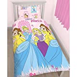Disney Princess Childrens Girls Boulevard Reversible Single Bedding Set (Single Bed) (Pink)