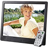 Intenso Media Artist Digitaler Bilderrahmen (20,3 cm (8 Zoll), TFT-Farbdisplay, SD, SDHC, MMC Slot, Video-Function, Fernbedienung) schwarz