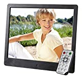 Intenso Media Artist Digitaler Bilderrahmen (20,3 cm (8 Zoll), TFT-Farbdisplay, SD, SDHC, MMC Slot, Video-Function, Fernbedienung) schwarz Bild