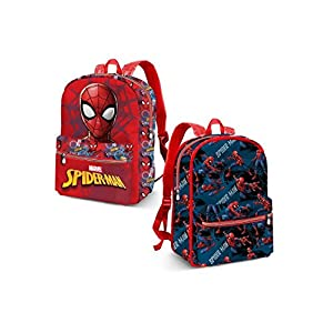 Karactermania Spiderman Hero Mochila Infantil, 31 cm, Azul