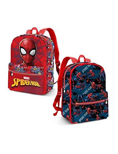 Karactermania Spiderman Hero Mochila Infantil, 31 cm, Azul