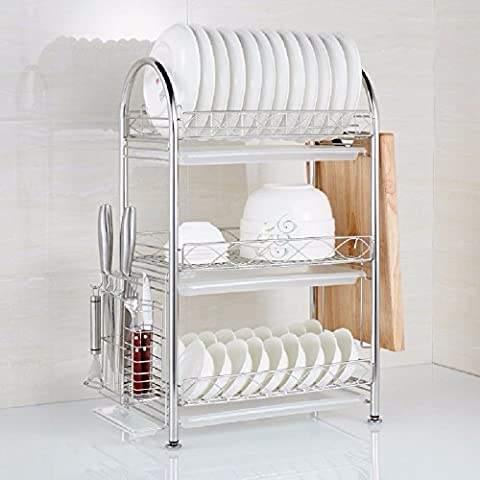 KHSKX Kitchen shelf, 304 thick hutch, Lishui frame, three floor kitchen Lek dishes