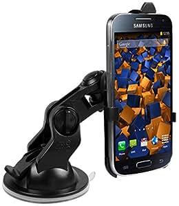 mumbi KIT Support fixation pare-brise voiture Samsung Galaxy S4 mini - Support ventouse portrait / paysage 90°