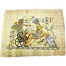 Papiro Egipcio Original Hecho y Pintado a Mano en Egipto de 33 x 43 cm Aproximadamente
