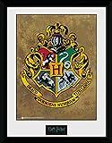 1art1 100204 Harry Potter - Hogwarts Wappen Gerahmtes Poster Für Fans Und Sammler 40 x 30 cm