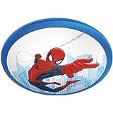 Philips Marvel Spiderman - Plafón, LED, iluminación interior, luz blanca cálida, bombilla de 4 W, sintético, color azul