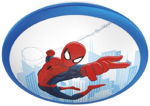 Philips Marvel Spiderman - Plafón, iluminación interior, luz blanca cálida, bombilla led de 4 W, plástico, color