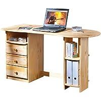 Inter Link Alpine Living Schreibtisch Computertisch Büromöbel Laptoptisch Bio Kiefer massivholz Natur lackiert preisvergleich bei kinderzimmerdekopreise.eu