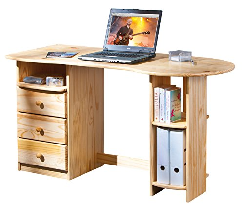 Links - office a13 - porta pc. dim: 137x61x76 h cm. col: naturale. mat: legno massello.