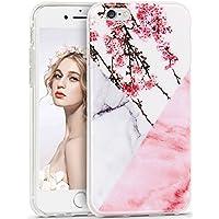 Imikoko iPhone 6/6s Marmor Hülle, Weich Silikon Handyhülle Stein Marble TPU Bumper Handytasche Flexible Schutzhülle Marmor Soft Telefonkasten Protective Gummi Dünn für iPhone 6/6S (Weiß Rosa)