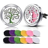 INFUSEU Auto Lufterfrischer Aromatherapie ätherisches Öl Diffusor Vent Clip 12 gemischte Farbe Pads preisvergleich bei billige-tabletten.eu