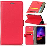 Codream HTC U12 Life Case, HTC U12 Life Wallet Case,Flip, Premium Slim Leather Wallet Back Case With Credit Card ID Holder Protective Case Compatible With HTC U12 Life,Red