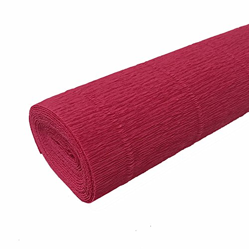FloristryWarehouse Strawberry Red 582 Crepe paper roll 50cm x 2.5m Top quality Italian paper craft