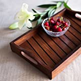 ExclusiveLane Handcrafted Decorative Tray In Sheesham Wood -Serving Breakfast Tray