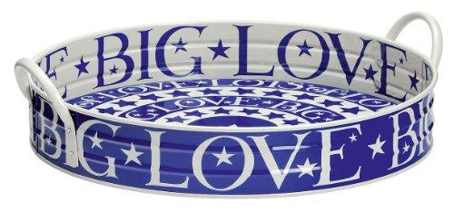 Emma Bridgewater Grand plateau de jardin Big Love Bleu