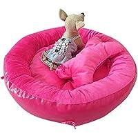 CHONGWUCX Mascota Hembra Arco Circular Nido Comodidad Suave cojín extraíble Perrera para Mascotas