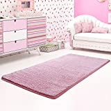 """Lifewit Machine Washable Ultra Soft Chilldren Kids Thick Shag Area Rugs 32"""" W x 63"""" L (2.6 x 5.25 Feet) Fluffy Living Room Carpet Comfy Bedroom Runner Rugs Pink"""