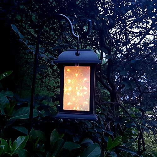 Eleganantamazing - Lámpara LED Impermeable para césped con luz Nocturna de 7 Colores con Efecto de Chimenea 3D, Funciona con energía Solar