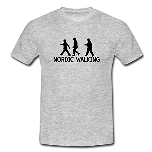 """T-Shirt """"Die Olsenbande-Nordic Walking"""" ashgrey"""