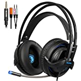 2017 Sades SA935 3.5mm Cuffie Gaming, Cuffie da Gioco Con Microfono Controllo del Volume Noise Cancelling Per New Xbox uno/PS4/PC/Laptop/Mac/iPad/iPod (Nera)