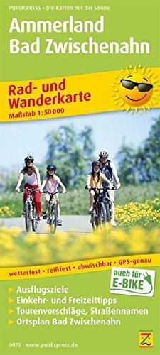 Ammerland, Bad Zwischenahn: Rad- und Wanderkarte mit Ausflugszielen, Einkehr- & Freizeittipps, wetterfest, reißfest, abwischbar, GPS-genau. 1:50000 (Rad- und Wanderkarte / RuWK)