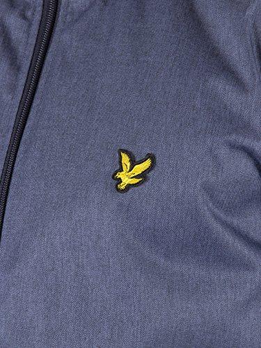 Lyle & Scott zip durch Kapuzenjacke Tintenblau marl Blau