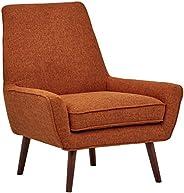 Marchio Amazon -Rivet, sedia modello Jamie con braccioli bassi, stile mid-century, 79 cm, colore arancione sc
