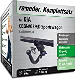 - 51bjByVek9L - Rameder Komplettsatz, Anhängerkupplung abnehmbar + 13pol Elektrik für KIA CEE'D Sportswagon (142899-10750-1)