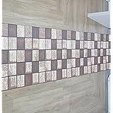 Alfombra Antideslizante de PVC cuadros marrón mt. 4x 0.60