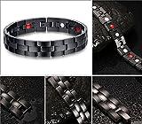 Jeracol Fashion Jewelry edlen Titan Magnettherapie Armband Schmerzlinderung für Arthritis Karpaltunnelsyndrom Sehnenscheidenentzündung Tennis Elbow RSI Gelenk und Handgelenk - 4