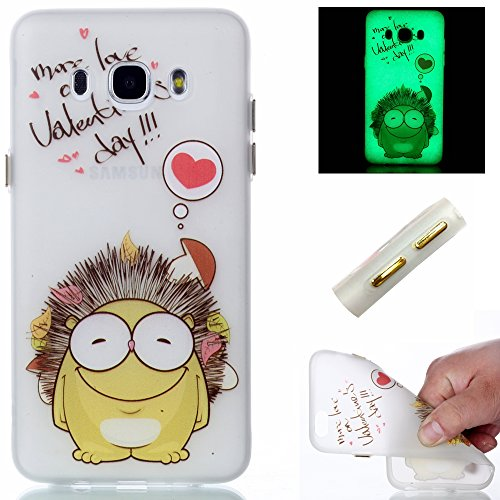 Galaxy J3 (2016) J310 Hülle,Galaxy J3 (2016) J310 Case,Cozy Hut ®TPU Leuchtende Nacht Silikon Schutzhülle Handyhülle Painted pc case cover hülle Handy-Fall-Haut Shell Abdeckungen für Samsung Galaxy J3/ J3 (2016) J310 - Igel