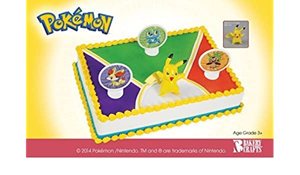Phenomenal Pokemon Birthday Cake Topper Decorating Kit By Bakery Crafts Toy Funny Birthday Cards Online Alyptdamsfinfo