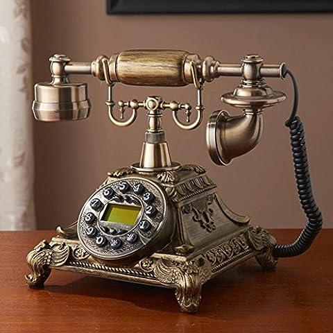 WTL Art Deco Antique European Fashion Telefono resina retro telefono Nostalgia vecchi ornamenti decorazioni per la casa ( colore : C. )