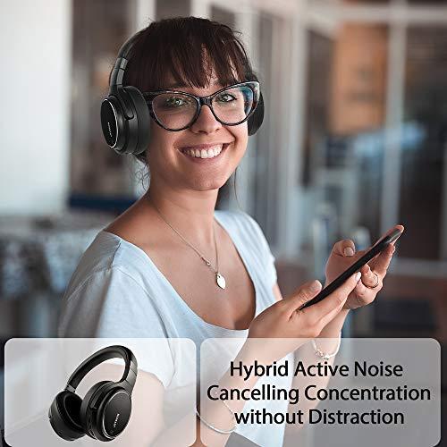 Noise Cancelling Kopfhörer bis 48 Std. Abspielzeit, Bluetooth Kopfhörer DOMAX M1, Noise Cancelling Kopfhoerer Komfortable, HiFi Stereo Over Ear Kopfhörer - 4