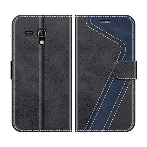 MOBESV Custodia Samsung Galaxy S3 Mini, Cover a Libro Samsung Galaxy S3 Mini, Custodia in Pelle Samsung Galaxy S3 Mini Magnetica Cover per Samsung Galaxy S3 Mini, Nero