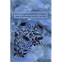 Everything Happens For A Reason: Sketchbook for Artist ~ Funky Novelty Gift for Art Lovers, Small Blank Sketch Book