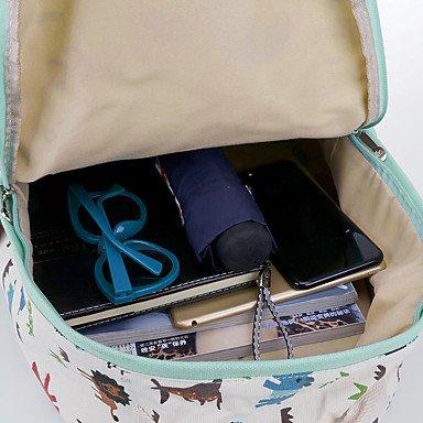 Frauen Rucksack Canvas All Seasons lässig Schaufel Reißverschluss Hellblau gream weiß Amethyst Schwarz Grün Blue