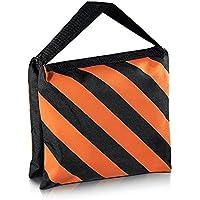 Neewer negro/naranja bolsa de arena de alta resistencia para estudio de fotografía de pantalla bolsa de arena Bolsa para plataformas de vídeo para soportes de Boom brazos trípodes