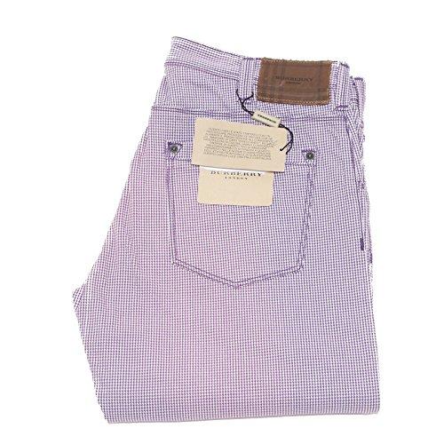 2104 pantalone BURBERRY LONDON uomo trousers men viola