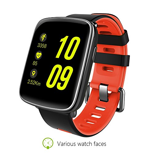 NUOII Bluetooth Waterproof Smart Watch Unlocked iPhone Smartwatch Watches, Waterproof Sports Smart Wrist Band Watch Compatible with Android Phones IOS Samsung for Kids Unlocked Touch Screen Cell Phone