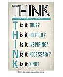 Réfléchissez avant de parler, affiche de motivation scolaire