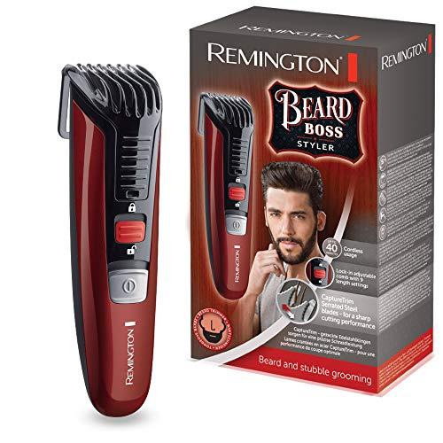 Remington Bart Trimmer Herren MB4125 (hochwertige Edelstahlklingen, Akkubetrieb, 11 Längeneinstellungen für verschiedene Bartstyles) Bartschneider