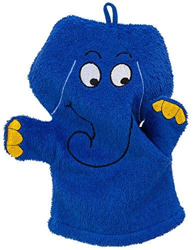 Smithy Spiel-Waschhandschuh Elefant, blau (Lädt Elefanten-baby)