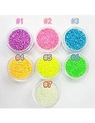 iDealhere Paillettes Scintillantes Lumineuses Nail Art Conseils Décoration Manucure (1#)