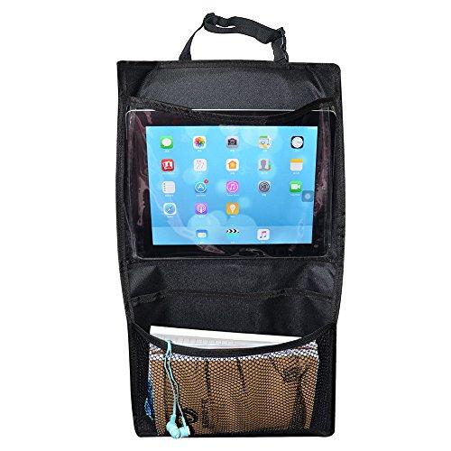 EarthSafe® Auto-Rücksitz Organizer iPad-Halter-Beutel Hängen, Muss Reisen Straßen Haben Reise-Zubehör und Kinder Spielzeug-Speicher Vordersitz Organisation