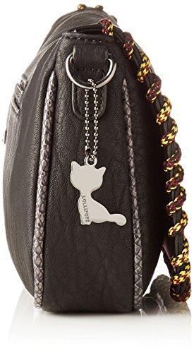 Lollipops Damen Andycup Clutch Schultertasche, 9x17x31 cm Schwarz (Black)